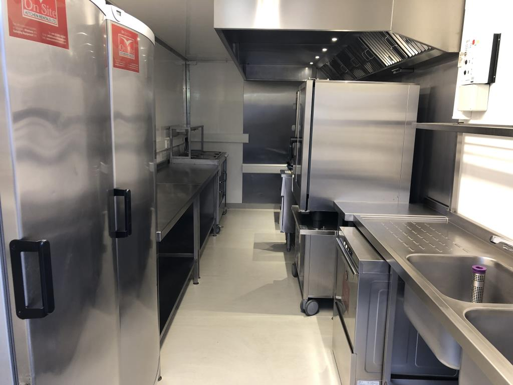 The interior layout of our mobile rental kitchens can include catering equipment specific to your requirements.